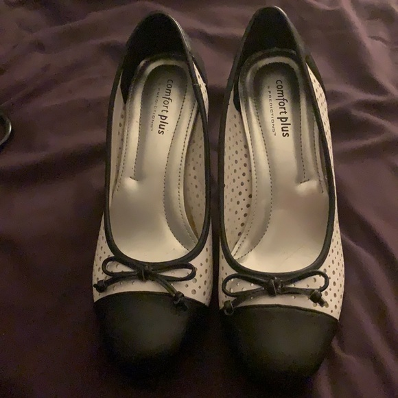 Black and White Pumps